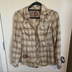 Guess Western Style Shirt Size Medium
